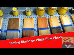 how to stain unfinished pine testing stains on white pine wood