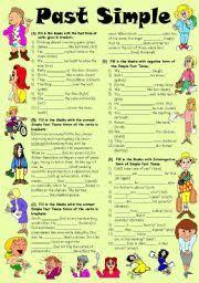 english teaching worksheets past tense
