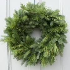 mixed greens 24in wreath wreath wreaths fresh wreath