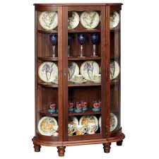 curved glass china cabinet amana curved glass china cabinet amana furniture clock shop