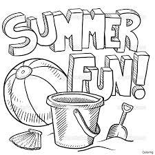 Free Summer Coloring Pages For Kids 25f Printable Diaiz Summertime Coloring Pages