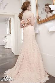 pink lace wedding dress dresses bridal rosa cipria pink lace sheath gown wedding