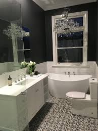 grey and white bathroom floor tiles are artisan u0027casablanca u0027 in