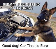 Dog In Car Meme - german engineering at its finest good dog car throttle euro