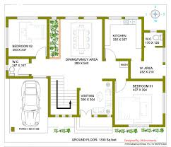 350 Square Feet 2492 Square Feet 4 Attached Bedroom Double Floor Home Design And