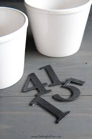 Kitchen Herb Pots by Easy Diy Herb Pots With Numbers Setting For Four