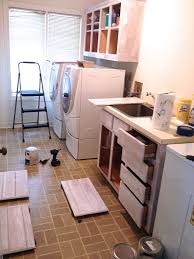 Cheap Laundry Room Cabinets by Remodelaholic High Style Low Cost Laundry Room Makeover