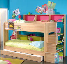 White Painted Oak Furniture Twin Bunk Beds With Stairs White Painted Oak Wood Girls Bunk Bed