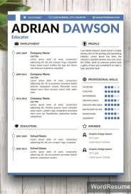 Resume Portfolio Template Creative Resume Templates Professional Cv Templates