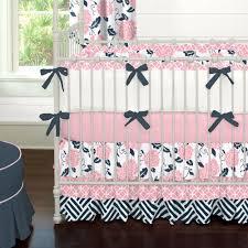 Preppy Crib Bedding Nursery Beddings Coral Crib Bedding Pottery Barn As Well As