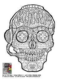 printable coloring pages sugar skulls gamer sugar skull free printable coloring page plicated gallery