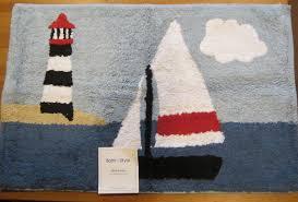 Nautical Bathroom Rugs Unthinkable Lighthouse Bath Rugs Rugs Inspiring
