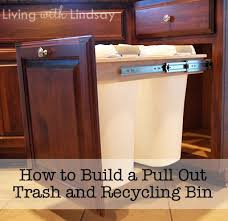 Pull Out Trash Can 15 Inch Cabinet How To Build A Pull Out Trash And Recycling Bin For Half The Cost
