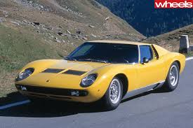 lamborghini classic in search of u0027the italian job u0027 in a lamborghini miura wheels