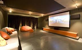 home theater design kerala astounding movie theater room ideas with orange and soft warm