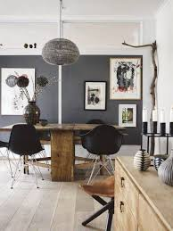 big dining room pendant lighting above simple wooden table around