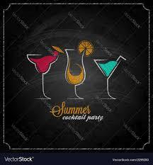 cocktail summer party chalk design menu background