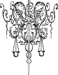 red sword and scales of justice clip art vector clip art online