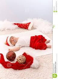 newborn baby in santa hat stock photo image of american 35562210