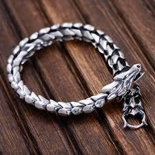 bracelet from chain images Men 39 s sterling silver dragon chain bracelet jpg