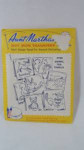vintage iron on transfers for embroidery aunt martha brand from