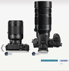 size comparison of 800mm monster panasonic 100 400 vs canon 500mm