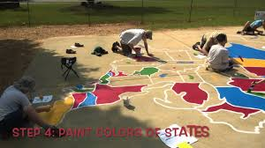 The Usa Map How To Paint The Us Map Youtube