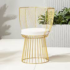 Gingham Armchair Unique Outdoor Furniture Modern Tables And Chairs Cb2