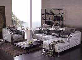 Silver Leather Sofa by High Quality Modern Style Luxury Tufted Silver Leather Sofa Buy