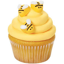 bumble bee cake topper wilton icing decorations bumblebee 18 ct 710 2916 walmart