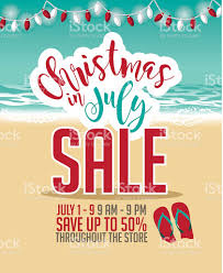 christmas in july christmas in july sale marketing template stock vector art more