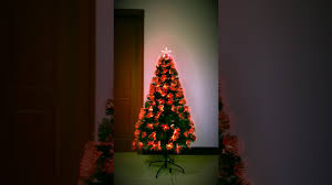 christmas tree world aurora fibre optic tree youtube
