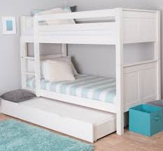White Bunk Bed With Trundle Bunks And Beds In Uk Quality Bunkbeds For From Stompa Stompa