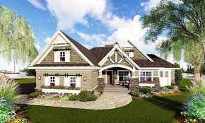 craftsman home with flex room 14603rk architectural designs