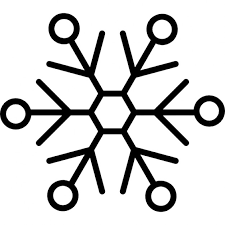 snowflake variant with small outlines icons free download