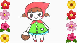 red riding hood coloring pages painting kids
