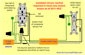 wiring diagrams for switch to a wall receptacle do it