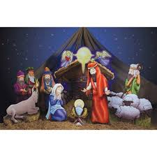 nativity standee set walmart