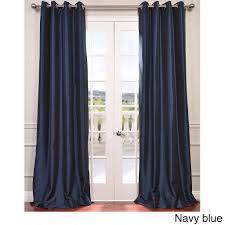 exclusive fabrics grommet blackout faux silk taffeta 96 inch length curtain panel platinum silver size 50 x 96 nylon solid