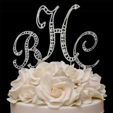 cake jewelry swarovski monogram cake jewelry vintage 3 letters