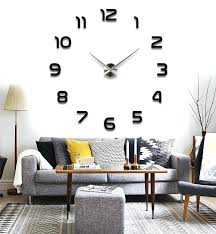 Large Wall Stickers For Living Room by Wall Clock Wall Decal Clock Hands Wall Decal Clock Singapore