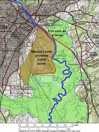 New Orleans Levee Map by Macon Bibb Ocmulgee River Levee