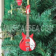 miniature electric guitar christmas tree ornament miniature