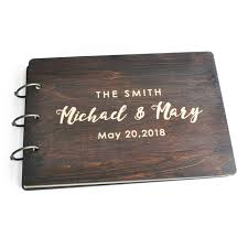 guest sign in books personalized wedding guest book wedding guest book rustic wooden