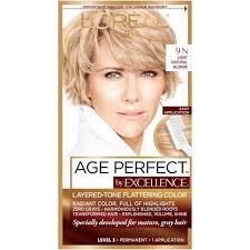 hair cor for 66 year old women l oréal paris age perfect permanent hair color target