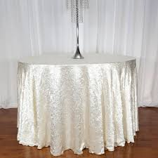 Round Elastic Tablecloth High Quality Satin Tableclohts