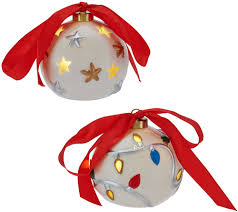 lightscapes s 5 lit pierced porcelain ornaments with gift boxes