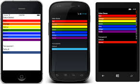 accent color meaning colors xamarin