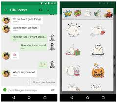 hangouts app android s new hangouts app introduces clever location the