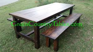 rustic outdoor picnic tables proven rustic picnic tables green country farmhouse table and chairs